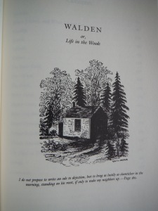 The original title page of Walden or, Life in the Woods